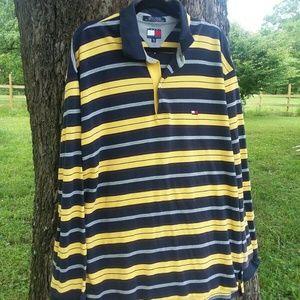 Tommy Hilfiger Striped Long-sleeve Polo XXL